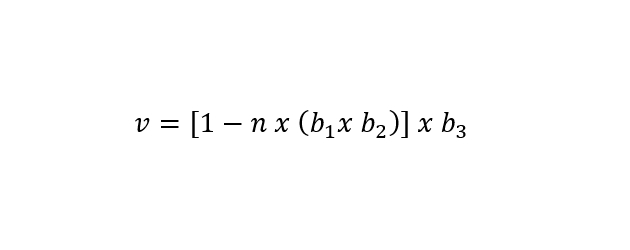 Fórmula para cálculo de argamassa em uma alvenaria