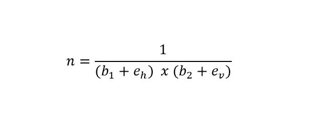 Fórmula para cálculo de tijolo