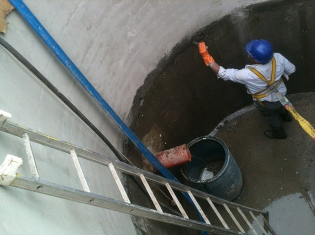 Impermeabilização de lajes por cristalização