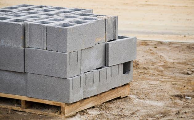 Blocos de concreto paletizados