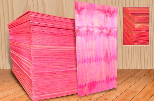 Madeirite resinado rosa