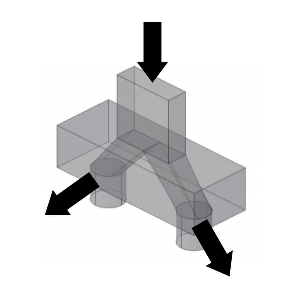 Diagrama de distribuição de cargas no bloco de coroamento